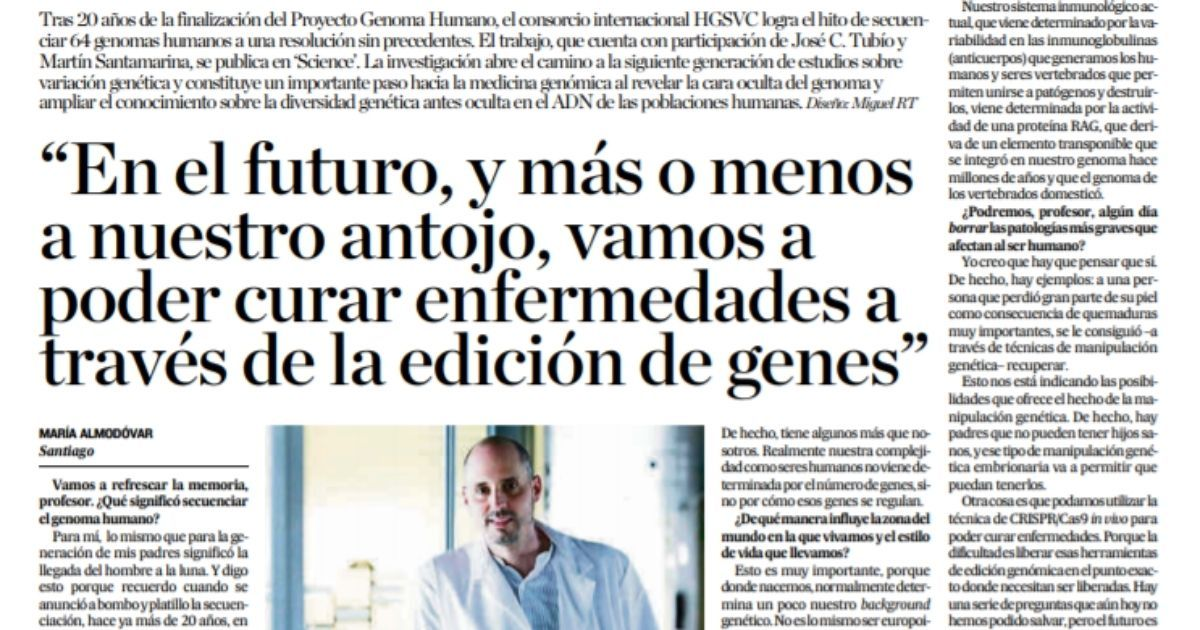 Entrevista a José C. Tubío sobre genética